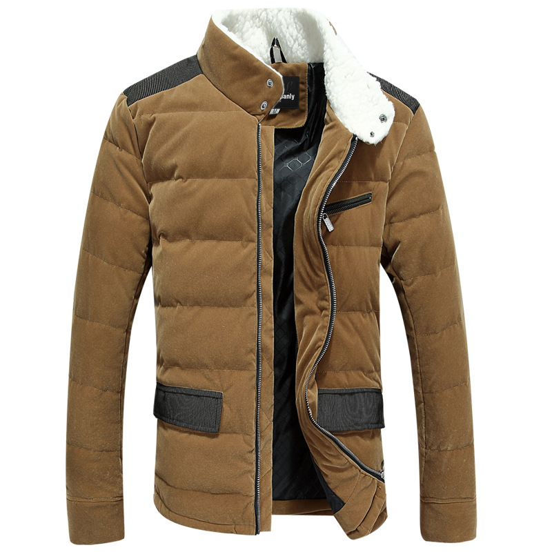 Do promotions Casual coat Winter down jacket men duck thickening padded free shipping